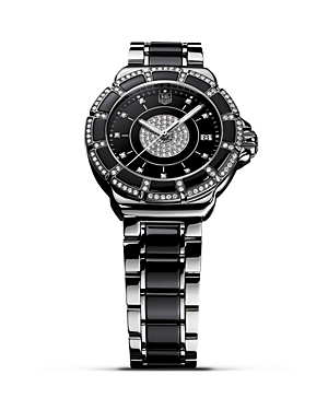 Tag Heuer Formula 1 Stainless Steel Watch with Pave Diamonds, 36mm