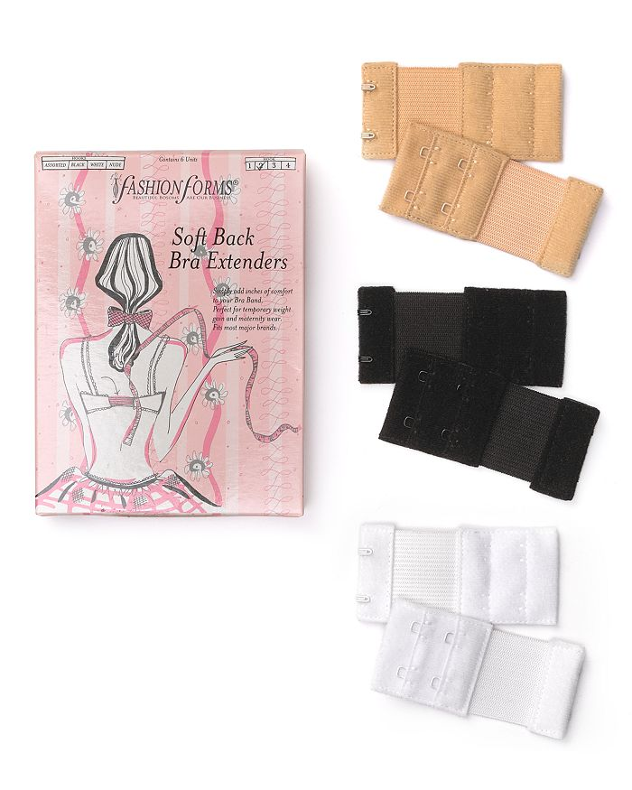 Fashion Forms - 2-Hook Soft Back Bra Extenders, Set of 6