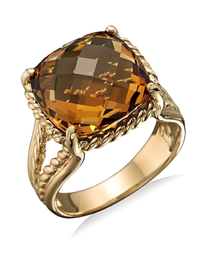 14K Yellow Gold Citrine Ring - 100% Exclusive