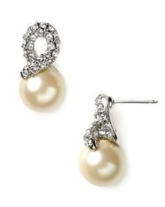Carolee Elegant Bride Pearl And Pave Earrings Bloomingdale S 0