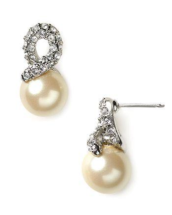 Carolee - Elegant Bride Pearl and Pave Earrings