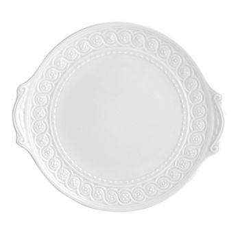 "Bernardaud - ""Louvre"" Cake Plate with Handle"