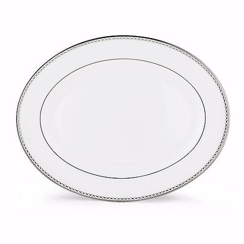 "Lenox - ""Pearl Platinum"" 13"" Oval Platter"