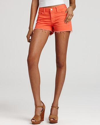 J Brand - Cutoff Denim Shorts in Tangerine
