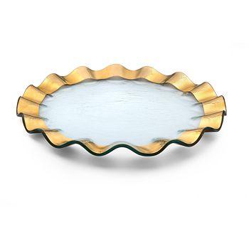Annieglass - Ruffle Buffet Plate
