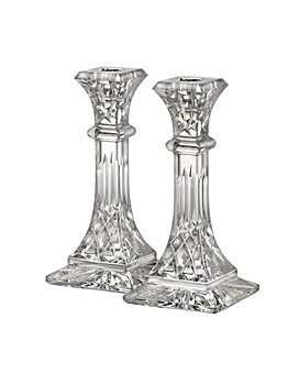 "Waterford - Lismore 8"" Candlestick, Set of 2"