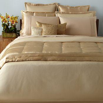 Donna Karan Modern Classics Bedding Gold Leaf Bloomingdales - Donna-karans-modern-classics-bedding-collection
