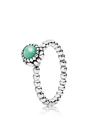 6aa3e16d8 Pandora Ring - Sterling Silver & Chrysoprase Birthday Blooms May ...