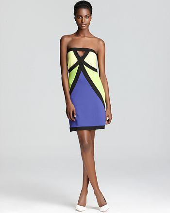 Susana Monaco - Color Block Strapless Dress