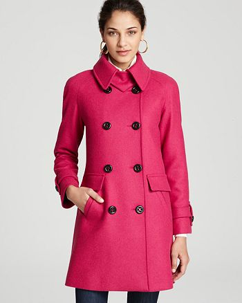 Trina Turk - Charlotte Twill Double Breasted Jacket with Leather Detail