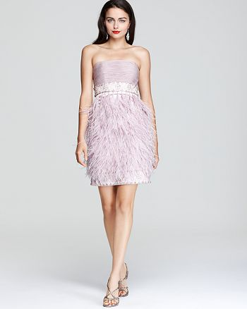 Sue Wong - Strapless Feather Dress