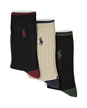 Ralph Lauren Childrenswear Boys Rib Dress Socks 3 Pack  Sizes 420