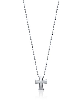 "Alex Woo - Sterling Silver Little Faith Cross Necklace, 16"""