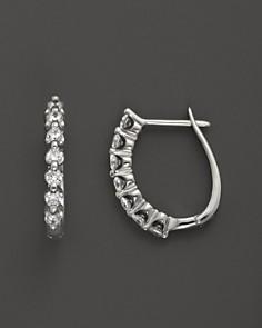 Diamond Earrings In 14k White Gold 50 Ct T W 100 Exclusive