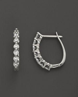 Diamond Earrings in 14K White Gold, .50 ct. t.w. - 100% Exclusive