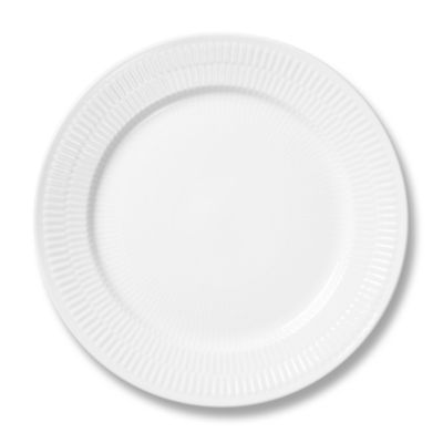 White Fluted Plain Salad/Dessert Plate