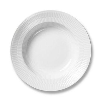 Royal Copenhagen - White Fluted Plain Soup Plate
