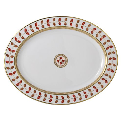 Bernardaud - Constance Red Oval Platter, 15""