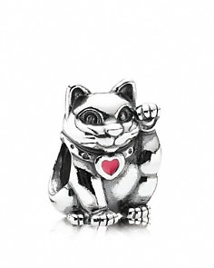 PANDORA Moments Collection Sterling Silver & Enamel Lucky Cat Charm - Bloomingdale's_0