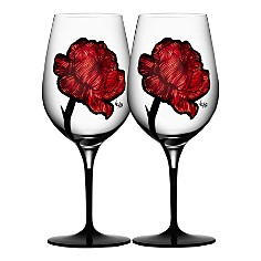 Kosta Boda Tattoo Wine Glasses, Set of 2 - Bloomingdale's_0