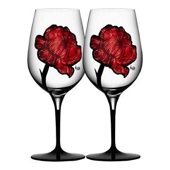 Kosta Boda - Tattoo Wine Glasses, Set of 2