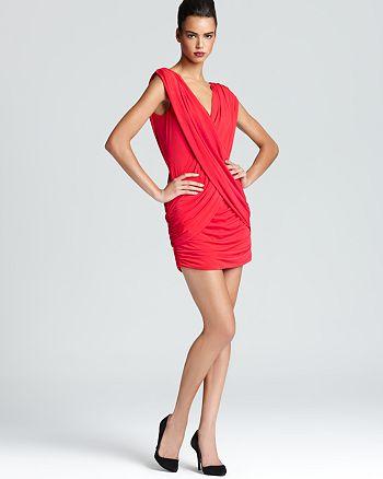BCBGMAXAZRIA - Dress - Draped V Neck