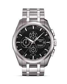 Tissot - Tissot Couturier Men's Black Automatic Stainless Steel Watch, 43mm