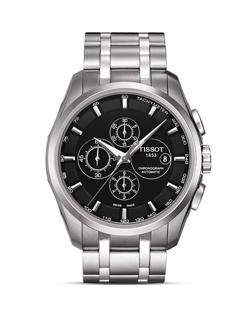Tissot - Couturier Men's Black Automatic Stainless Steel Watch, 43mm