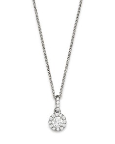 Halo Diamond Solitaire Pendant Necklace in 14K White Gold, 0.30-0.75ct.t.w. - 100% Exclusive - Bloomingdale's_0