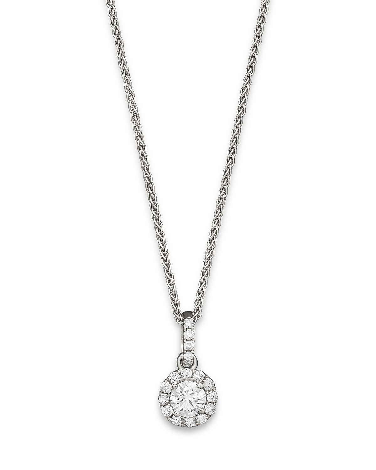 solitaire necklace gold fine products diamond ferkos jewelry