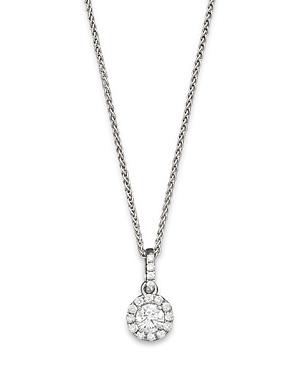 Halo Diamond Solitaire Pendant Necklace in 14K White Gold, .50 ct. t.w. - 100% Exclusive