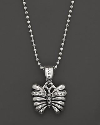 Lagos sterling silver rare wonders small butterfly pendant necklace lagos sterling silver rare wonders small butterfly pendant necklace with diamonds 16 mozeypictures Images