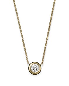 "Roberto Coin 18K Yellow Gold Diamond Bezel Pendant Necklace, 16"" - Bloomingdale's_0"