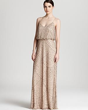 Adrianna Papell Beaded Dress - Long Blouson
