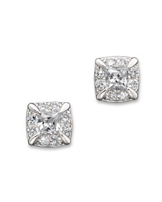 Diamond Princess Cut Stud Earrings in 14K White Gold, 0.25-0.50ct.t.w. - 100% Exclusive - Bloomingdale's_0