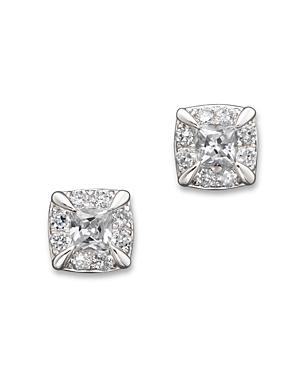Diamond Princess Cut Stud Earrings in 14K White Gold, .50 ct. t.w. - 100% Exclusive