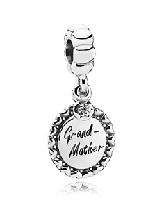 PANDORA Moments Collection Sterling Silver & Cubic Zirconia Grandmother Dangle Charm - Bloomingdale's_0