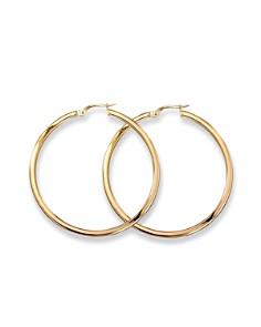 Roberto Coin Medium 18K Yellow Gold Hoop Earrings - Bloomingdale's_0