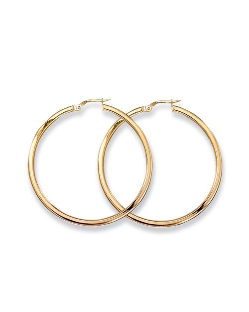 Roberto Coin - 18 K Yellow Gold Woven Hoop Earrings