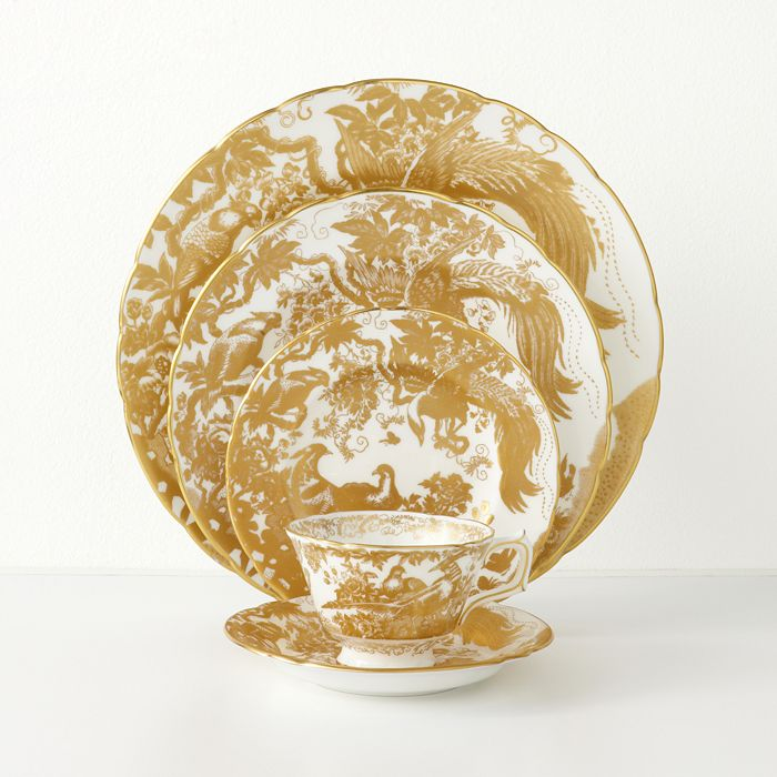"""Royal Crown Derby - """"Gold Aves"""""""