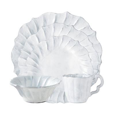 Incanto Stone White Ruffle Large Bowl