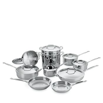 Cuisinart - 17-Piece Stainless Steel Cooking Set