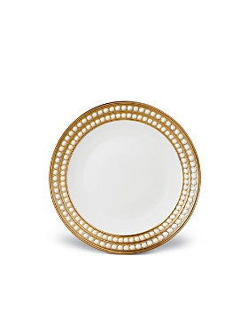 L'Objet - Perlée Gold  Dessert Plate