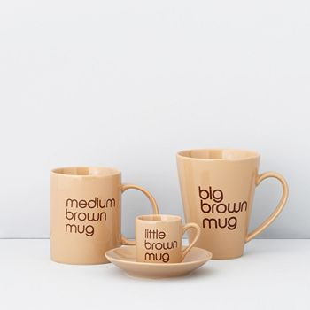 Bloomingdale's - Brown Mugs by BIA Cordon Bleu a  Exclusive - 100% Exclusive
