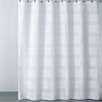 Hudson Park Collection - Hudson Park Woven Pleat Shower Curtain - 100% Exclusive