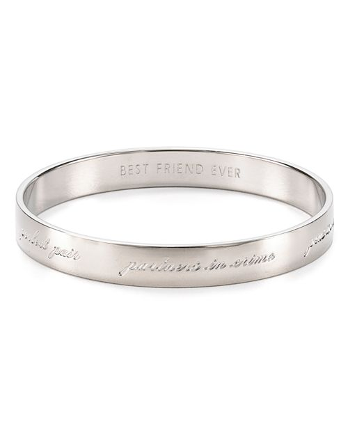 Kate Spade New York Bridesmaid Engraved Idiom Bangle