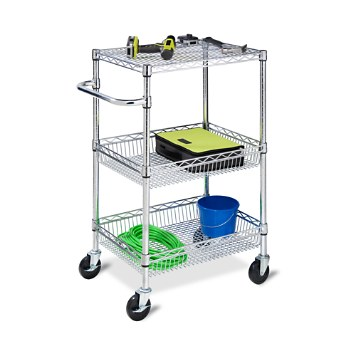 $Honey Can Do 3-Tier Chrome Heavy Duty Urban Rolling Cart - Bloomingdale's