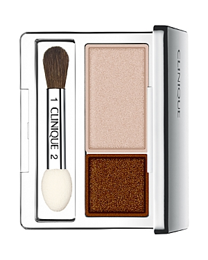 What It Is: An eyeshadow duo: Use one shade as a base color, the other to contour. What It Does: Crease- and fade-resistant Ophthalmologist tested for even the most sensitive eyes and contact lens wearers Includes a mirrored compact with illustrated how-tos, plus a brush/sponge-tip applicator Allergy-tested Key Ingredients: Murumuru seed butter Caffeine Free Of. Fragrance Oil Parabens How To Use It: Use brush-tip side of applicator to sweep one shade across entire lid, lashline to brow bone. Use