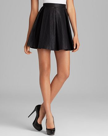 Dolce Vita - Mairin Faux Leather Pleated Skirt