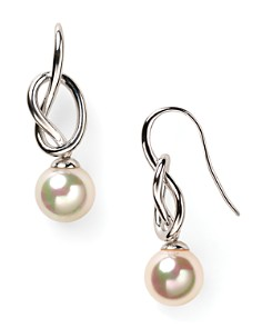Majorica Knot & Simulated Pearl Drop Earrings - Bloomingdale's_0
